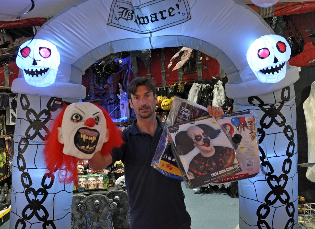 The 'creepy clown' craze has seen sales of clown costumes soar at Peeks, the huge, Dorset-based party supply company.