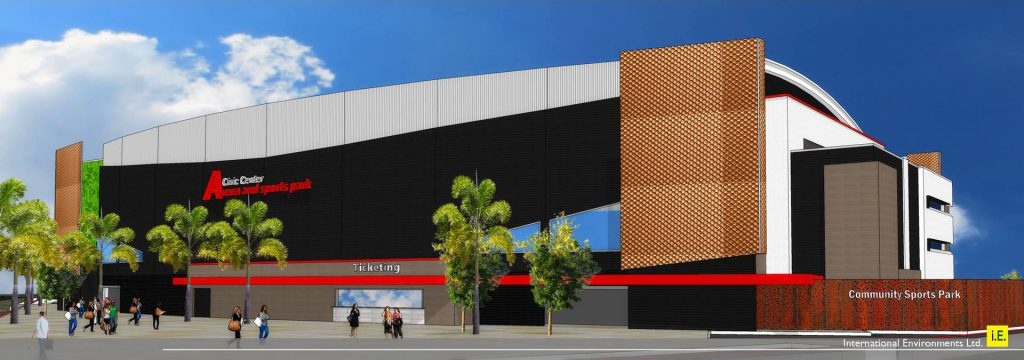 PICTURE PERFECT: Artist's impression of new national Sports Center in Belize City