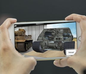 Tank museum leads with world with augmented reality