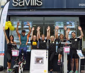 Savills cycle to the south of France for cancer charity