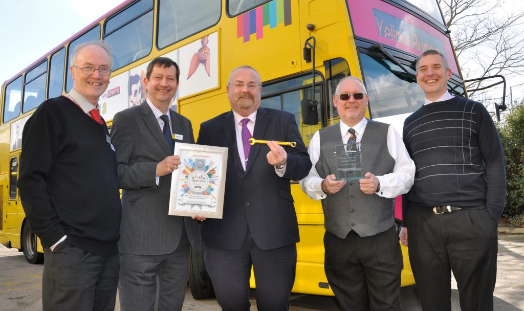 Yellow Buses has won a hat-trick of top awards for engineering