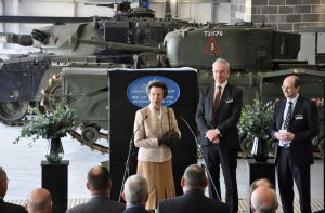 The Princess Royal opens Tank Museum's workshops