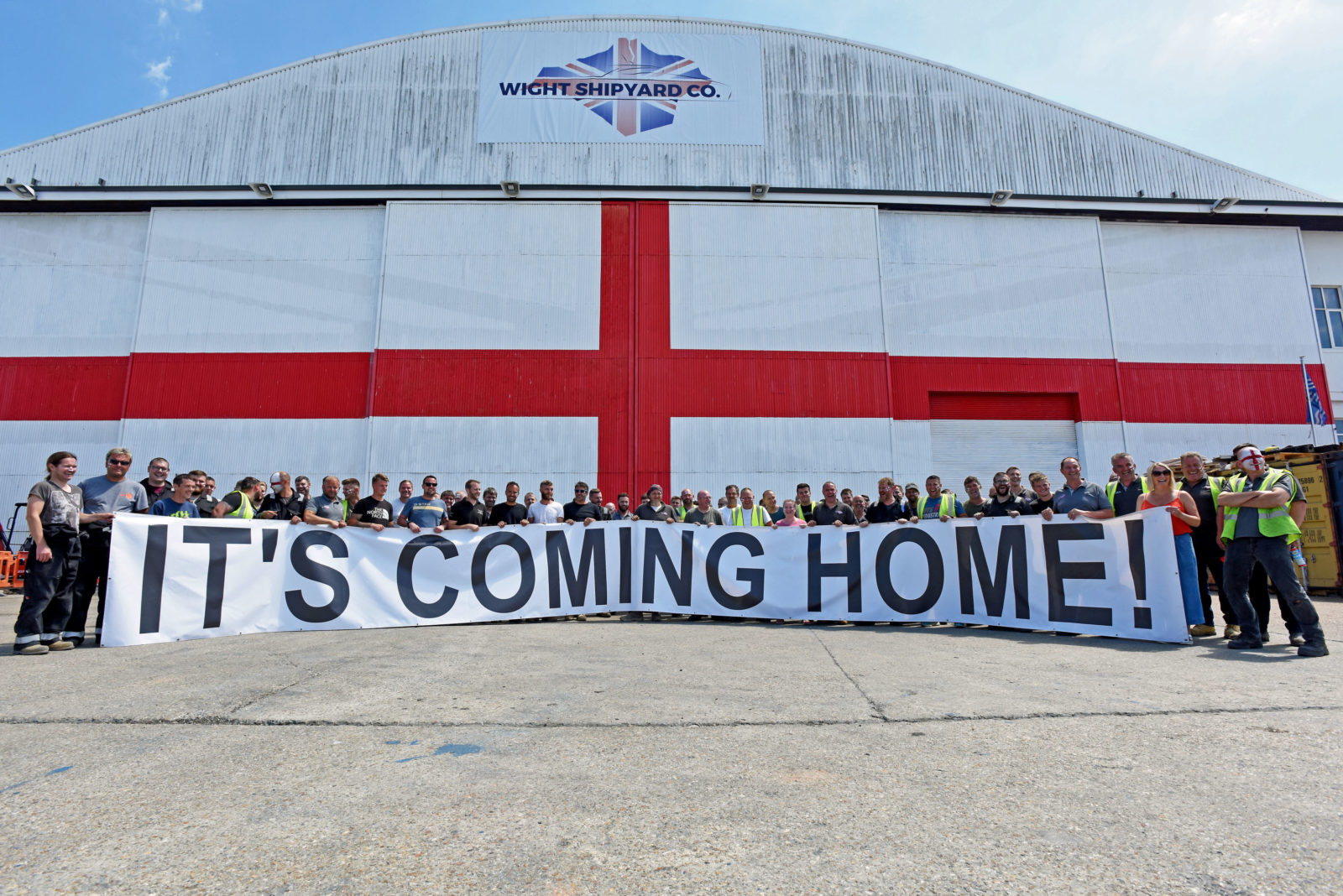 Football England Marine Sms Isle Of Wight Wight Shipyard Co Its Coming Home Wight