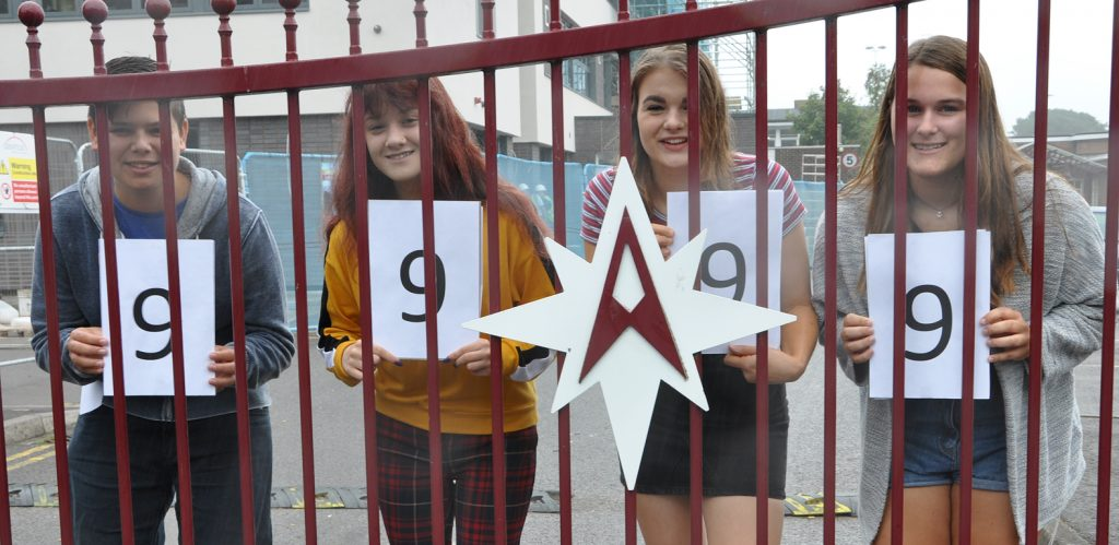 Gateway to their future: Arnewood GCSE students Ben Emecz, Monica Banto, Emma Hardy and Holly Ankers