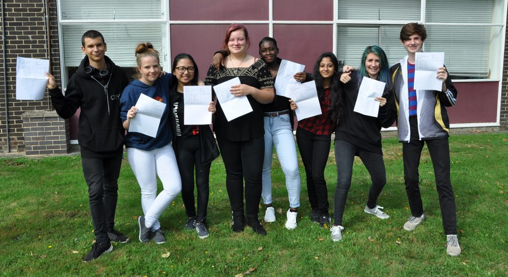 GCSE exam results day at Arnewood
