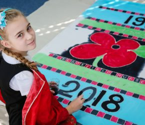 Children put their art into remembrance