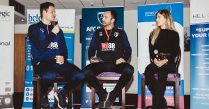 Keeper Asmir talks to AFC Business Breakfast