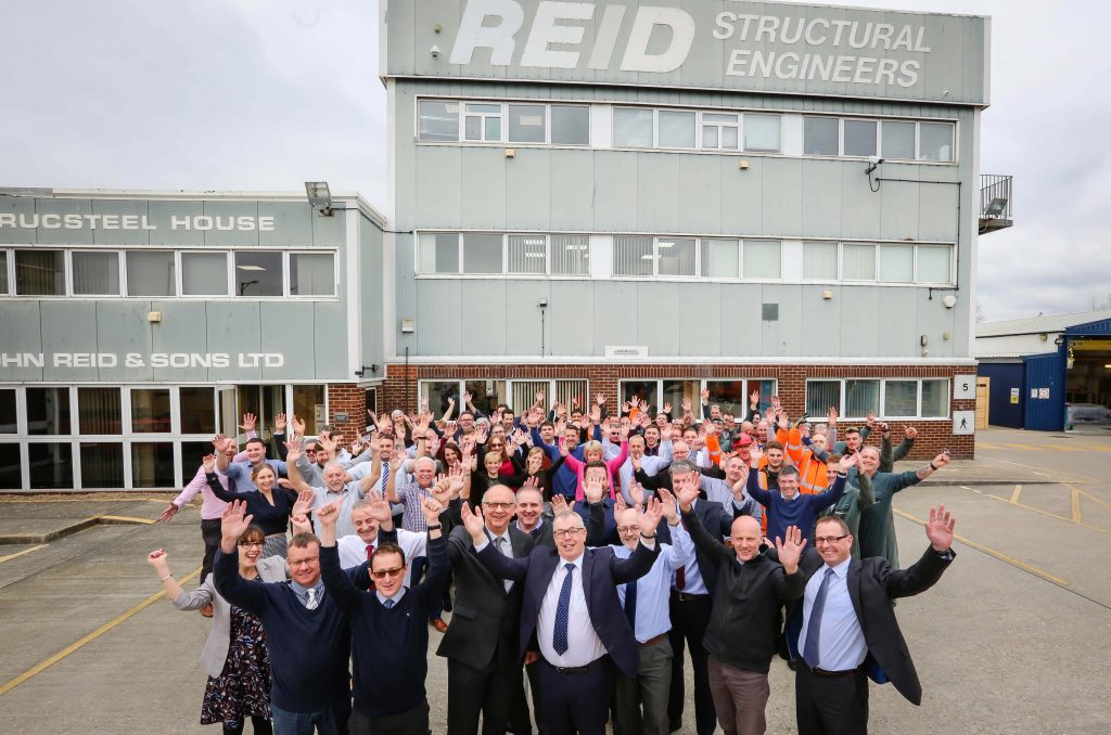 CENTURY: Staff at John Reid & Son Ltd (REIDsteel) celebrate their centenary (Picture by Deep South Media head of visual Paul Collins)