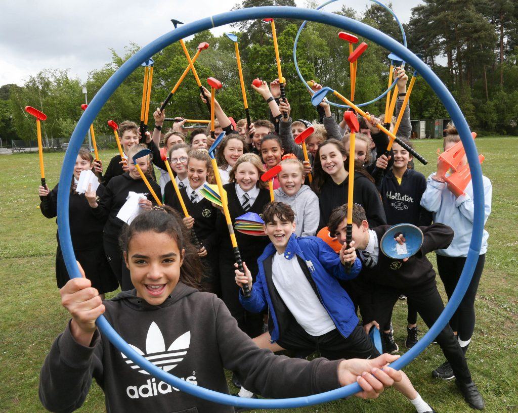 St Michael's CE Middle School in Colehill hosted a multi-skills sports day for local first and primary schools. Pictured here are St Michael's Sports Leaders  who helped run the events.