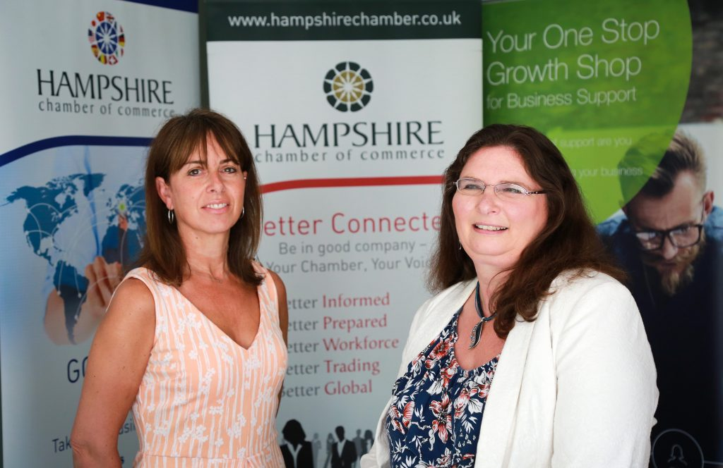 TRADING SKILLS. Jacqueline Highmore, Hampshire Chamber's International Trade Manager, left, and Maureen Frost, Hampshire Chamber Chief Executive.