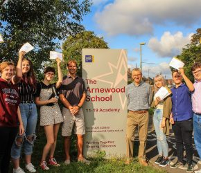 Excellent A-level results puts Arnewood above the national average