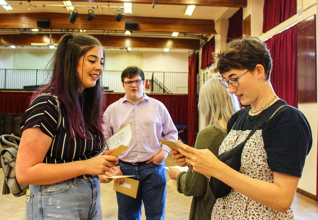 It was another successful year for The Arnewood School's Sixth Form as it recorded substantially above the national average A-level results. These students were all celebrating great results.