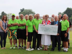 A scramble for charity at Parley Golf Centre