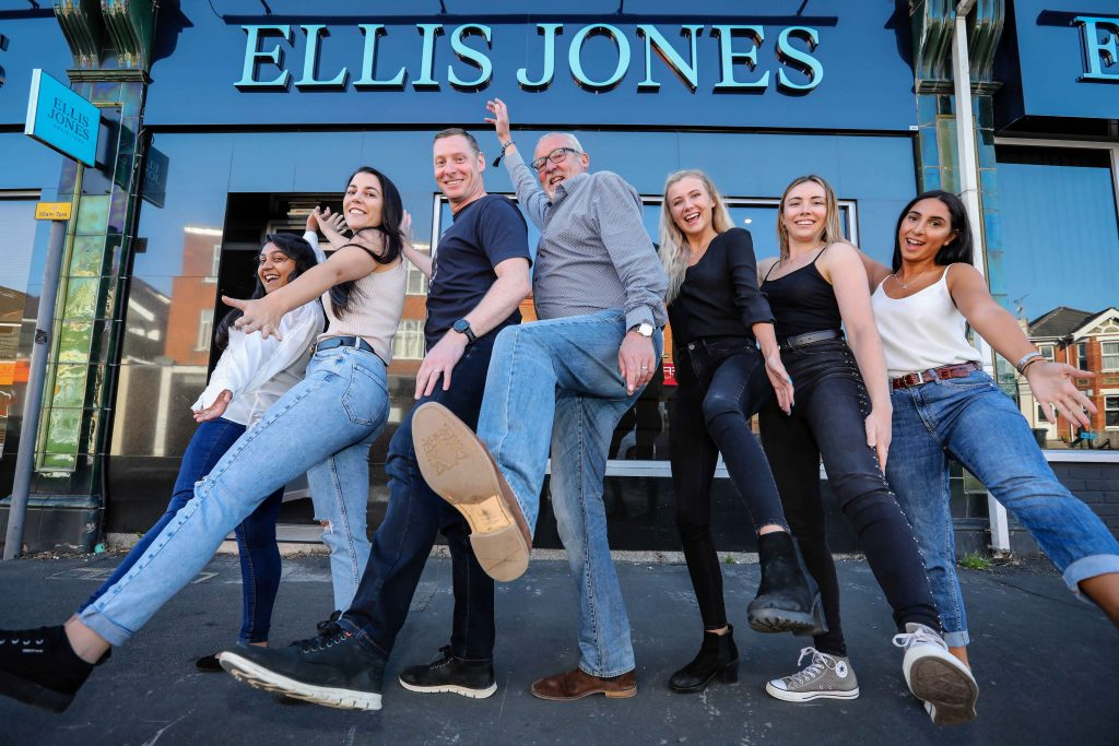 HOWZAT: Staff from Ellis Jones solicitors with managing partner Nigel Smith (centre) taking part in Jeans for Genes Day (Picture: Deep South Media head of visual Paul Collins)