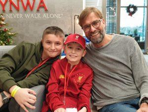 Smiley Riley meets football heroes