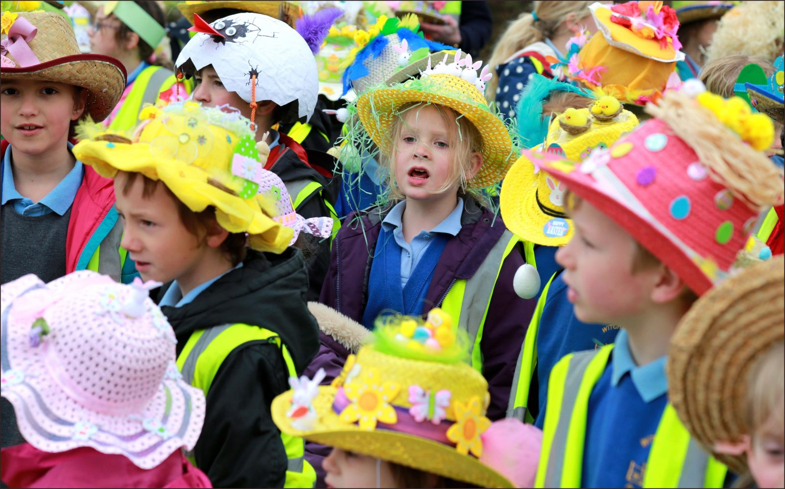 Witchampton First School held their annual Easter bonnet parade around the village on the last day of term.