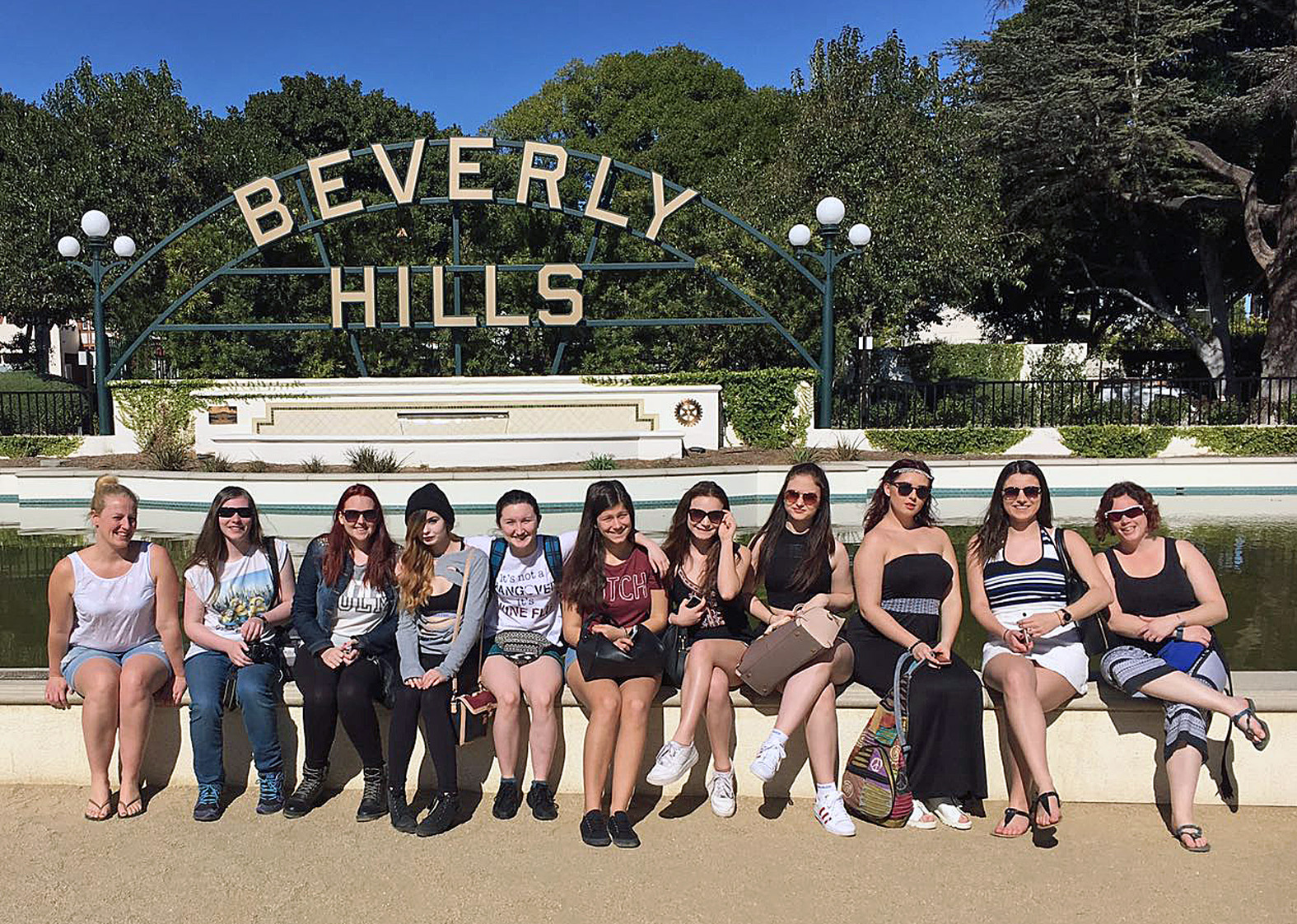 Stage and screen students from the LeAF Studio in Bournemouth enjoying the bright lights of Hollywood.