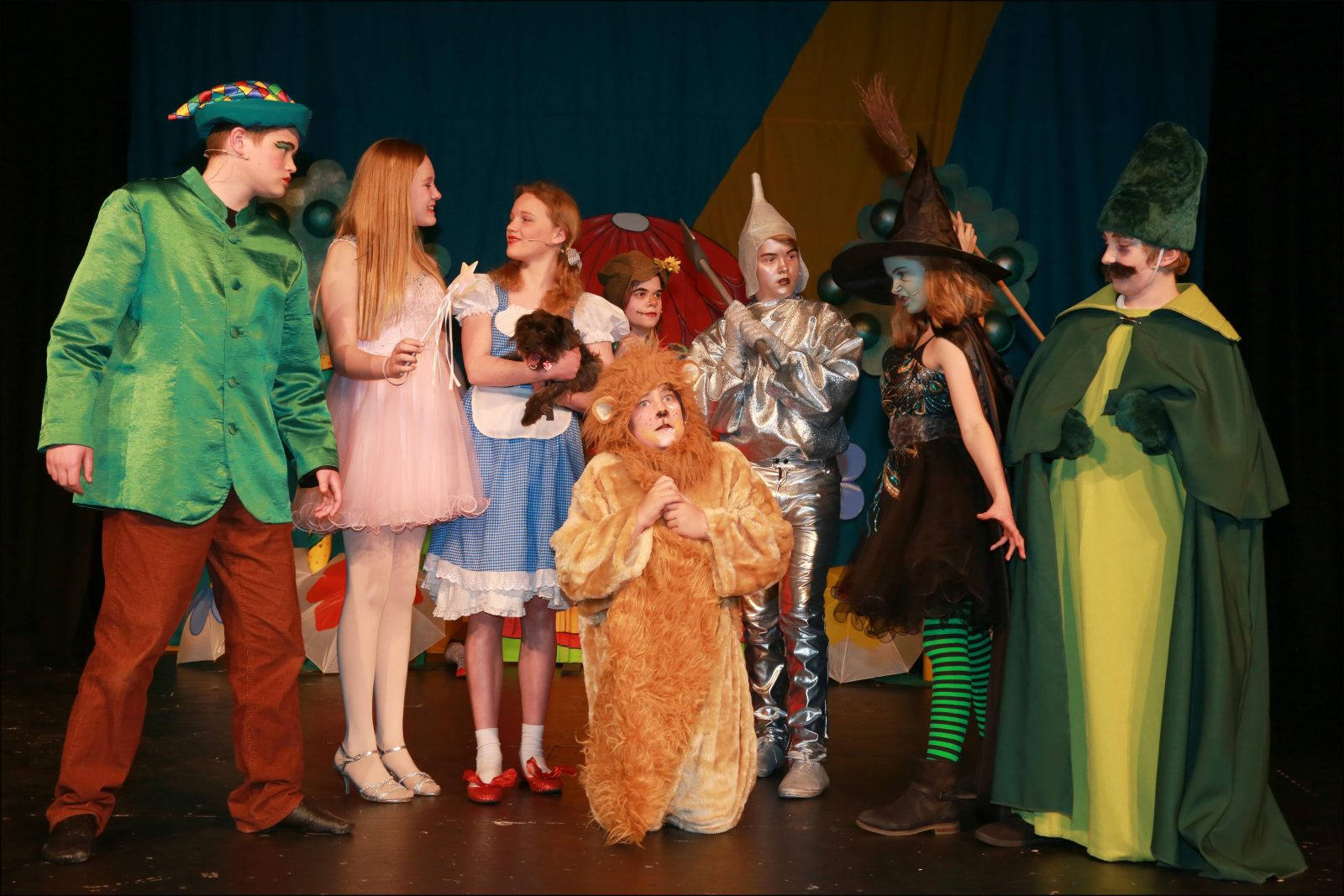 Pupils from St Michael's Middle School performed The Wizard of Oz at Queen Elizabeth School in Wimborne. Felicity Legg played Dorothy pictured with principal members of the cast.