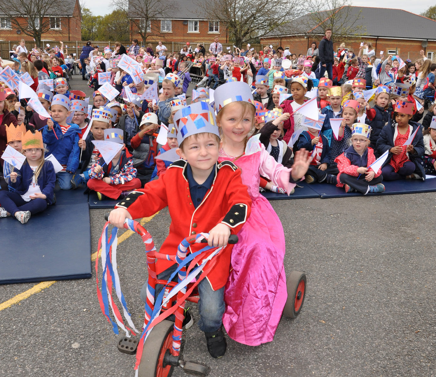 The children from Elm Academy celebrated the Queen's 90th birthday with a street party and a day of royal-themed activities.