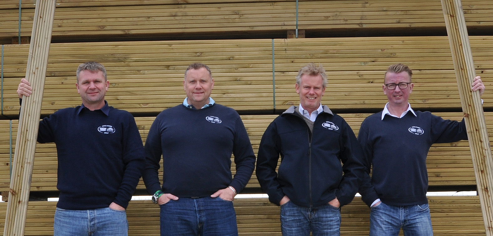 The Fence Stores Group - one of the country's Top 1,000 Companies to Inspire Britain. Directors left to right: Mark Rossiter, Steve Toomer, Steve Randall and Miles Thompson.