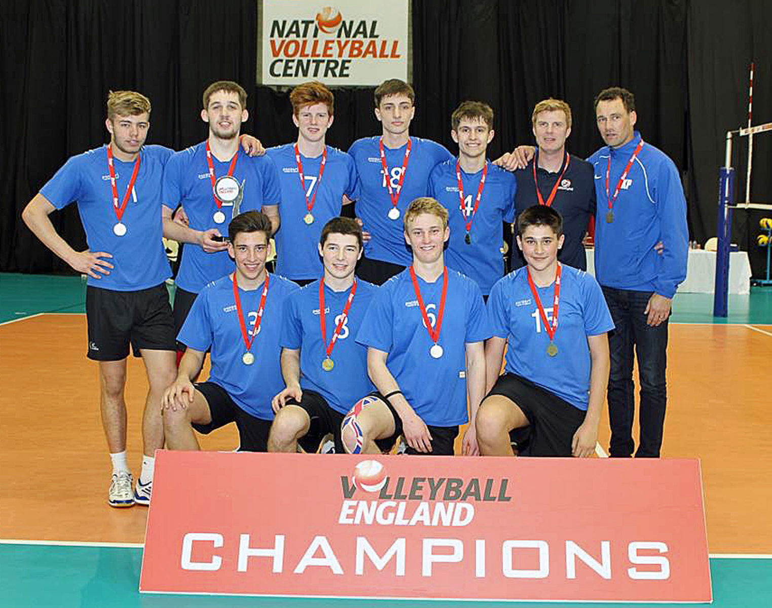 TRIUMPH. The Wessex/LeAF U18 boys team who won the National Volleyball Cup finals.