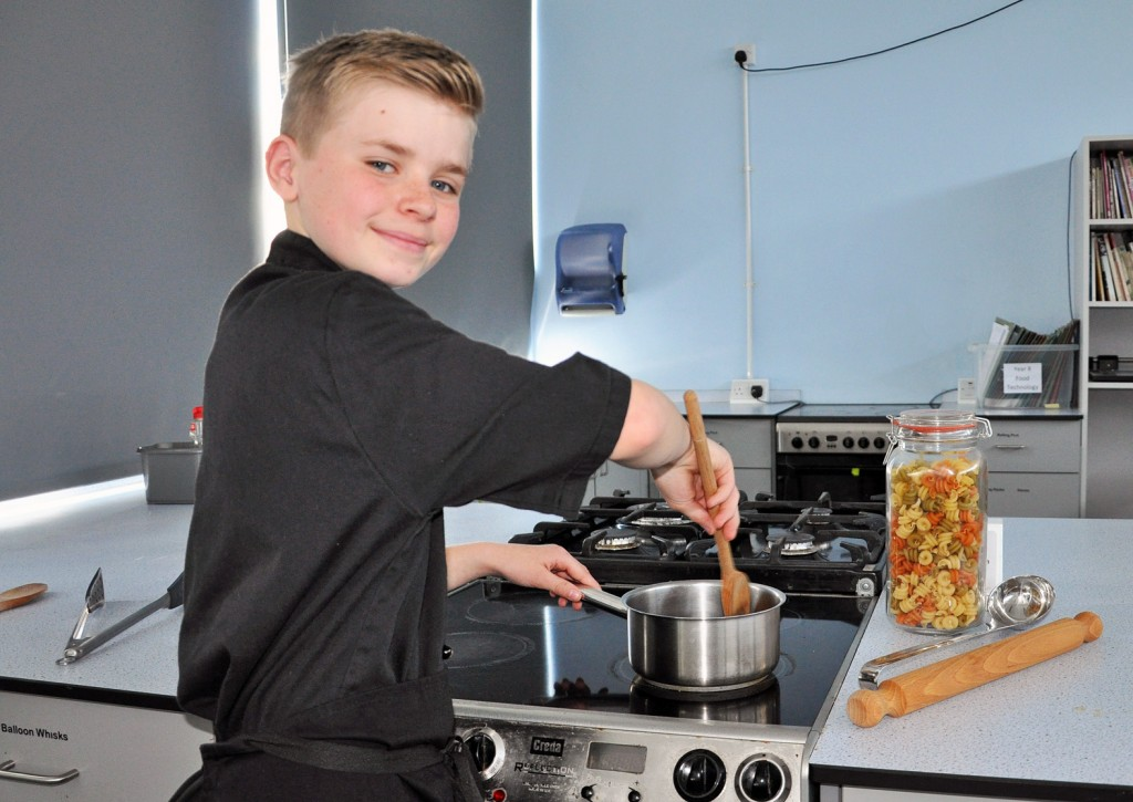 AWARD WINNER. Budding chef Kian Johnson was a regional finalist in the Young Rotary Chef competition. Here he is pictured in the GCSE catering kitchen at Oak Academy in Bournemouth.