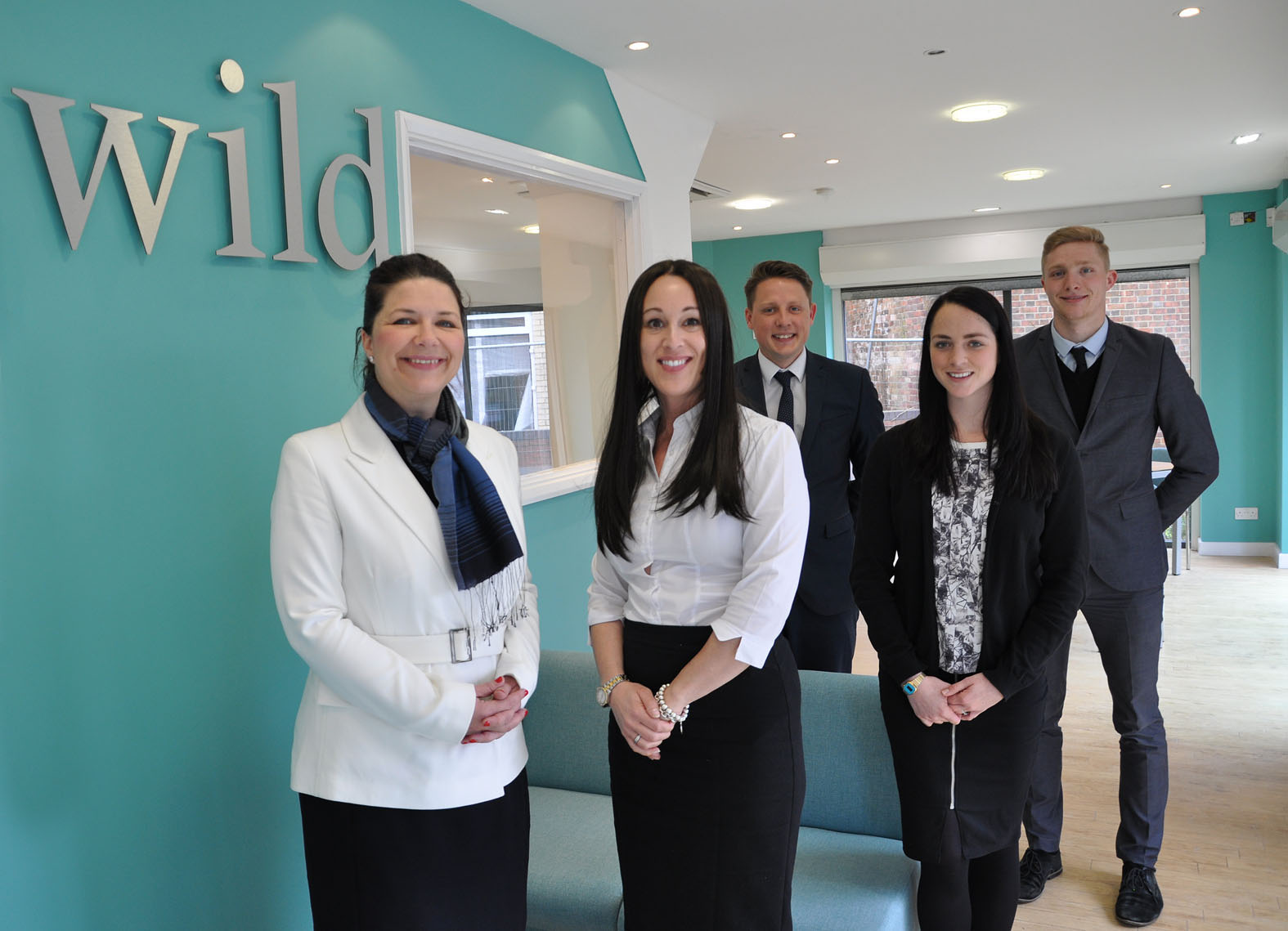 Wild in Poole: (l-r) Michelle Stewart and Kate Foley, with George Knijff Hayley Rumble and Chris Neesam.
