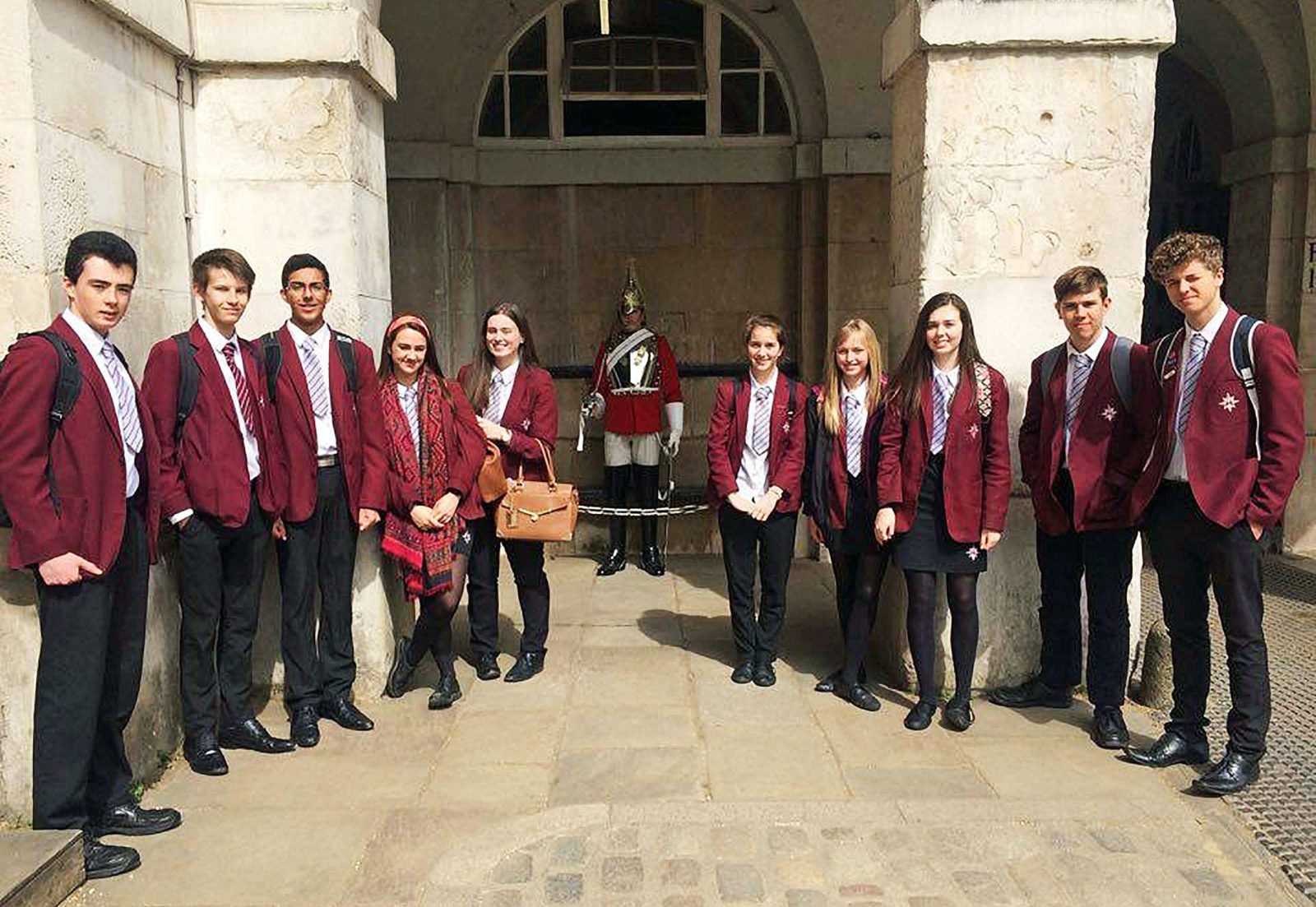 LEADERS OF TOMORROW? The Arnewood School's Year 11 students who recently visited the Houses of Parliament to meet local their MP Desmond Swayne.