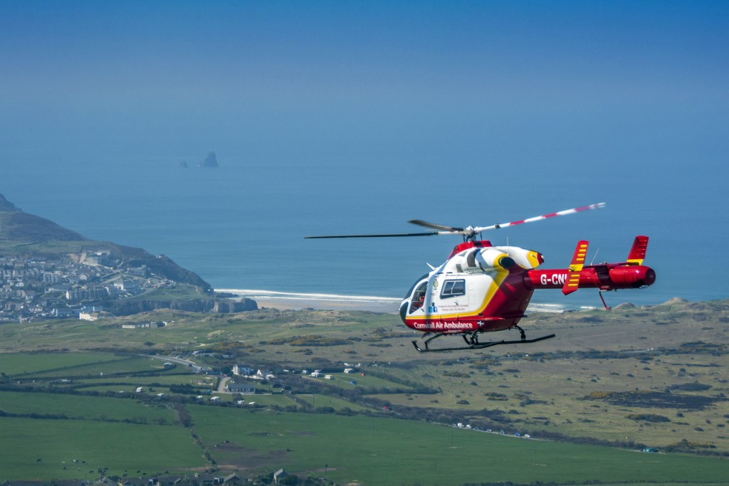 Cornwall Air Ambulance Perranporth
