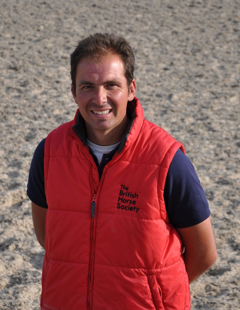 Roland Bellido, the Spanish instructor who is working wonders at Parley Equestrian Centre.