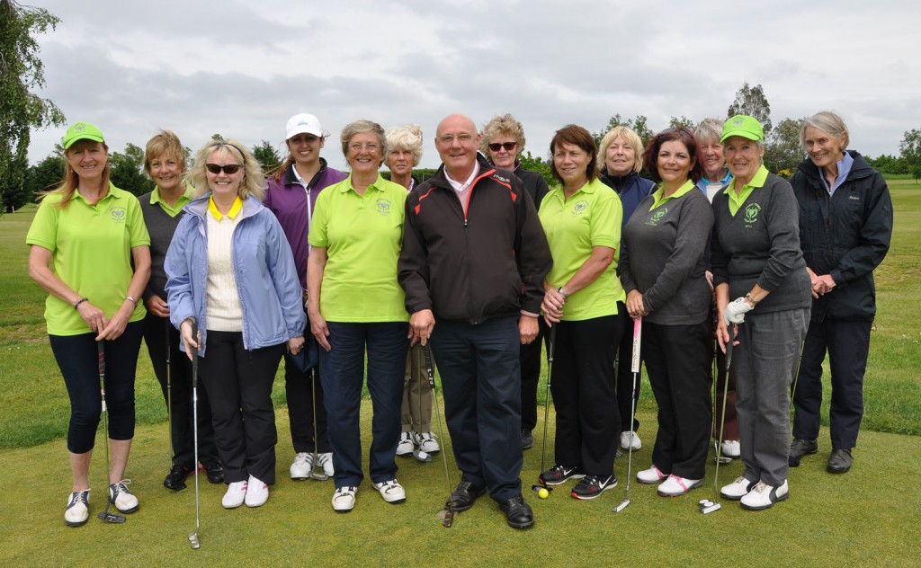 Marcys Urbye, one of the pros at Parley Golf Centre with some of the growing ladies' section.