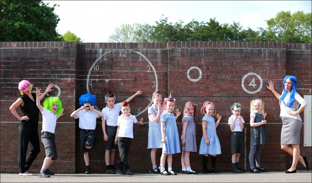 Merley First School held a mad hair day to help raise funds to update a section of their playground.