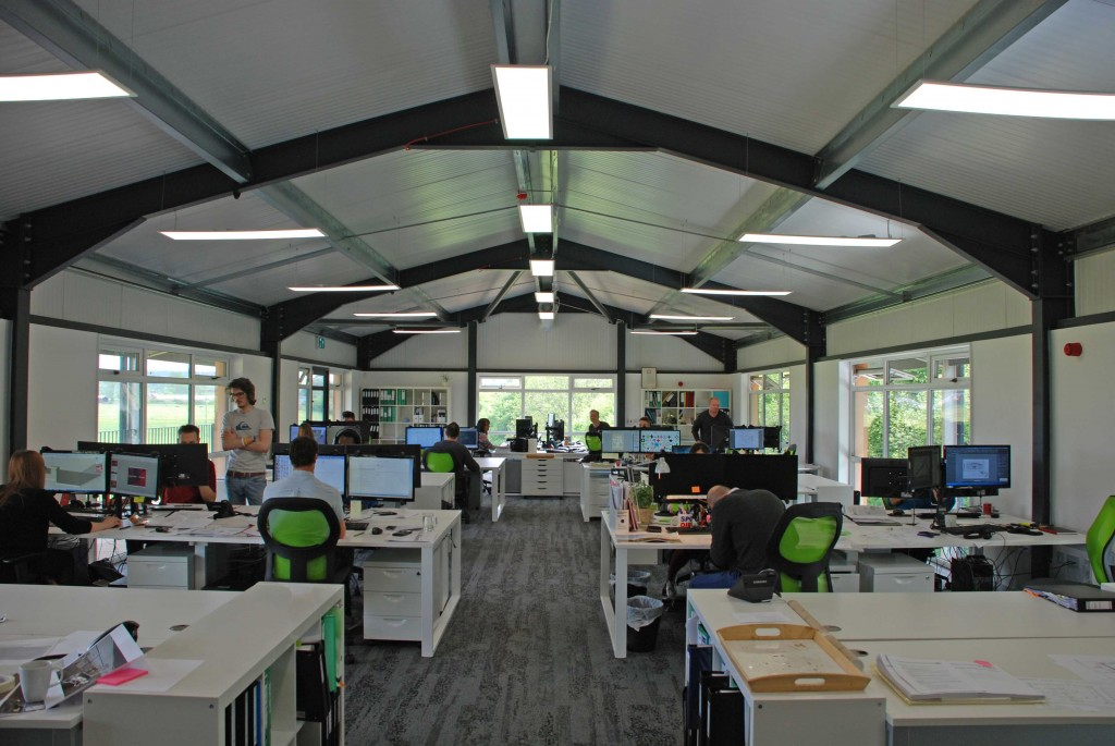 NEW DEVELOPMENT: Phase 3 of the Glasshouse Studios at Fordingbridge. The office pictured here has been leased to BrightSpace, an architectural practice which designed the scheme for HHM Developments and has just moved in 25 staff.