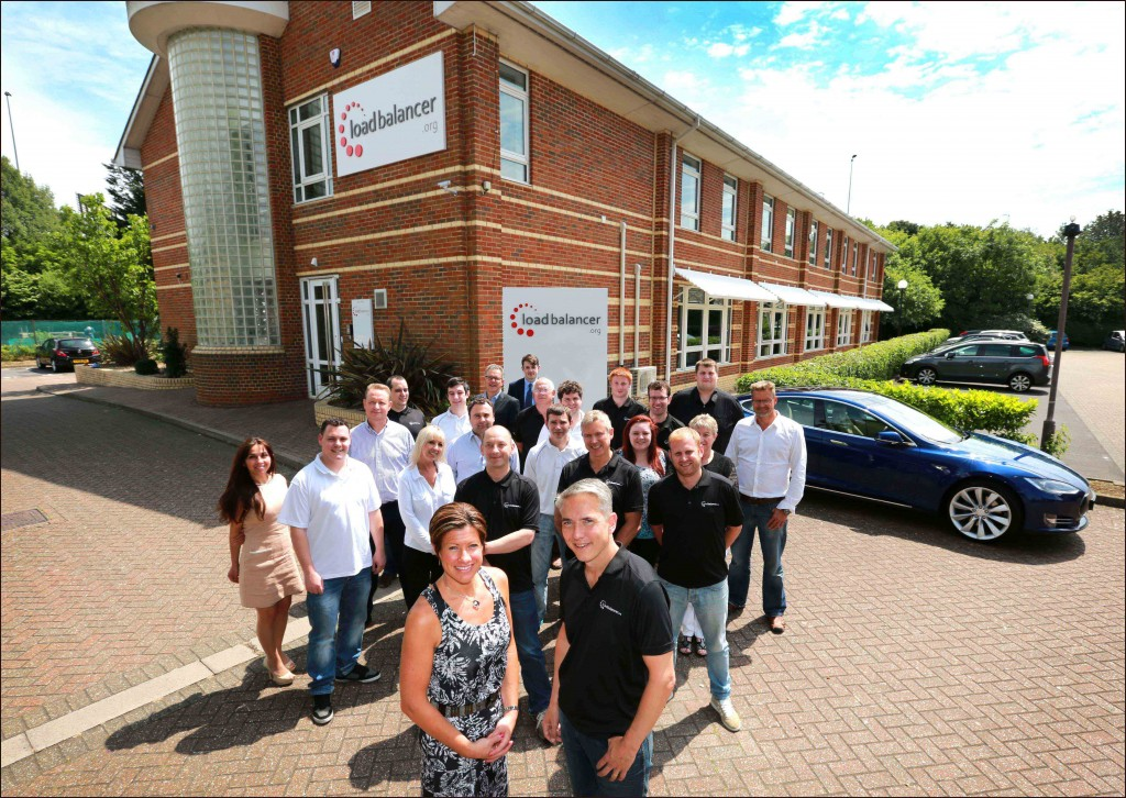The Loadbalancer.org team outside their new £1.4m home at Compass House, Portsmouth. Picture by Deep South Media head of visual Paul Collins.