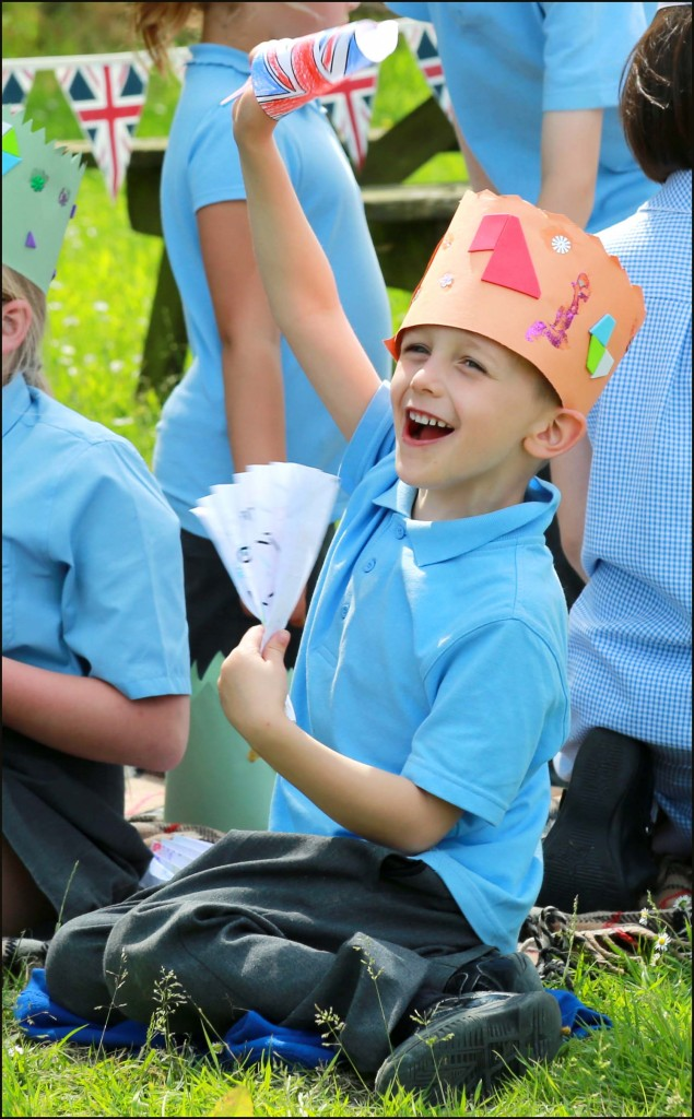 Witchampton First School celebrated the Queen's official birthday with a tea party and games.