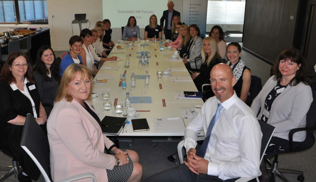 BRANCHING OUT: TeamJobs' MD Jason Gault, front right, has moved his flourishing HR Forum to Bournemouth