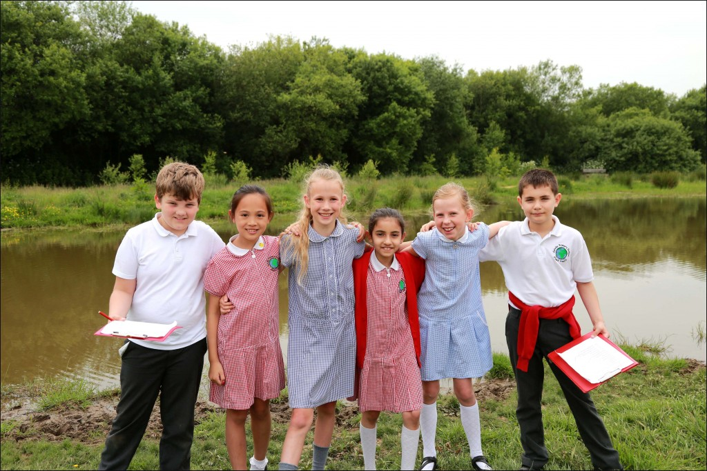 CAPITAL DAY OUT. Children from Colville Primary School in London joined pupils from Hayeswood First School to look at the countryside and town of Wimborne.