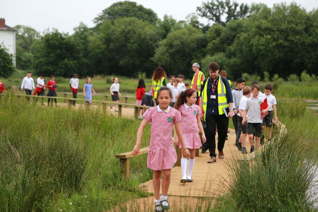Children from Colville Primary School in London joined pupils from Hayeswood First School to look at the countryside and town of Wimborne.