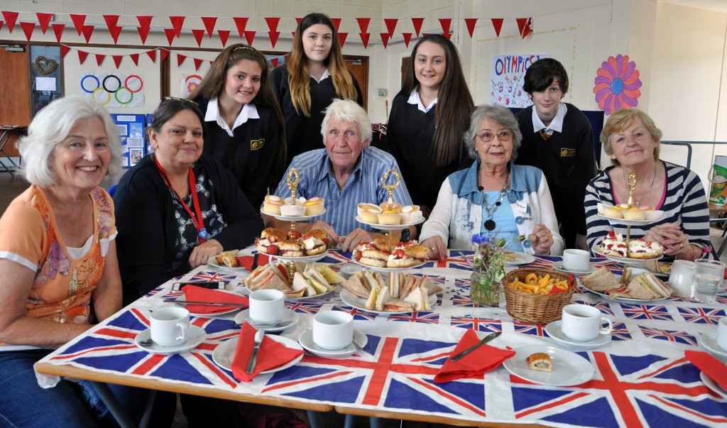 CELEBRATIONS: Students from the LeAF Academy hosted a special summer Olympics tea party for older members of the local community.