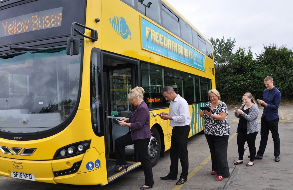 On the MOVE: Yellow Buses is claiming a UK first after launching a new unlimited one-hour bus fare using its new mobile ticketing app 'YB Move'.