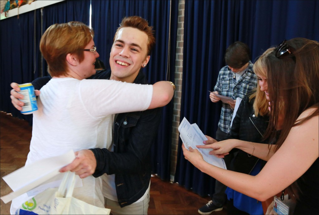 Avonbourne College sixth form A level results. Bertie Deakin celebrates his results.