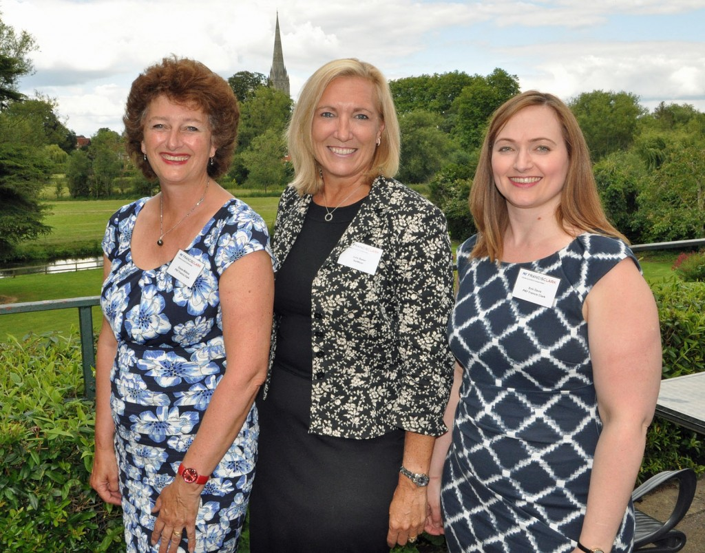 Sharing success: Julie Baker, Head of Enterprise, NatWest/Royal Bank of Scotland Business Banking (centre) with (left) Elaine Wilkins, Business Development Manager, PKF Francis Clark, and Erin Davis, Tax Director, PKF Francis Clark.