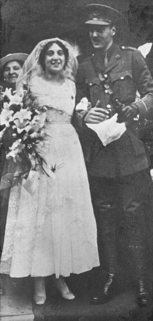 Lt. Basil Henriques and his wife Rose on their wedding day, shortly before deployment.