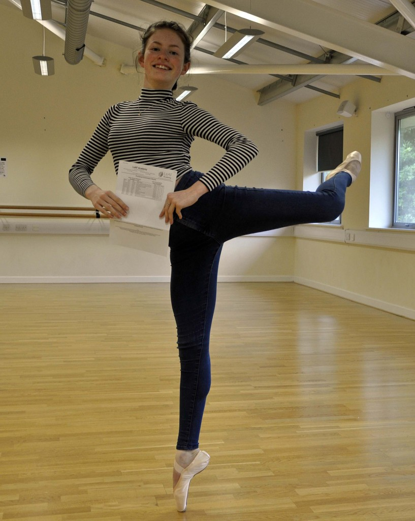 LeAF Studio student, TV star and talented ballerina Harriet Williamson completed her GCSEs with aplomb, achieving three As, seven Bs and one C in GCSE. She has also secured one of just 10 fully funded places at the prestigious Tring Park School for the Performing Arts.