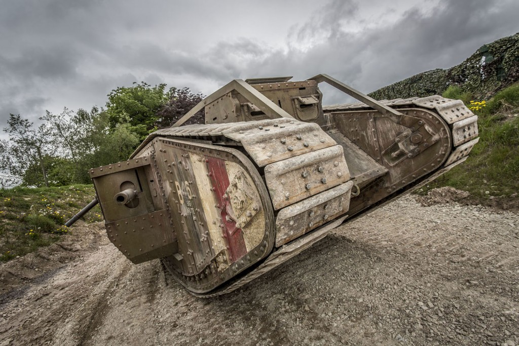 The Mk IV replica that is being taken by The Tank Museum, Bovington, to Trafalgar Square on September 15, 2016 - the centenery of the very first tank action.