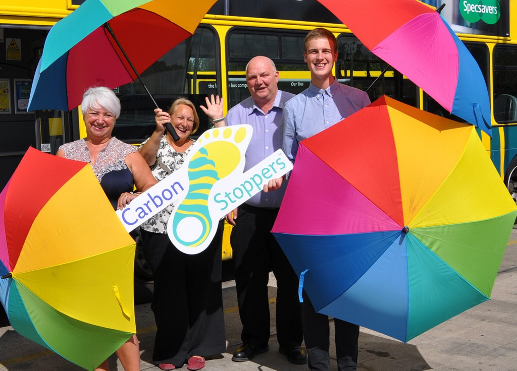 The Yellow Buses/Daily Echo Carbon Stoppers initiative gave £200 to Bourne Free, which runs Bournemouth's annual LGBT festival.