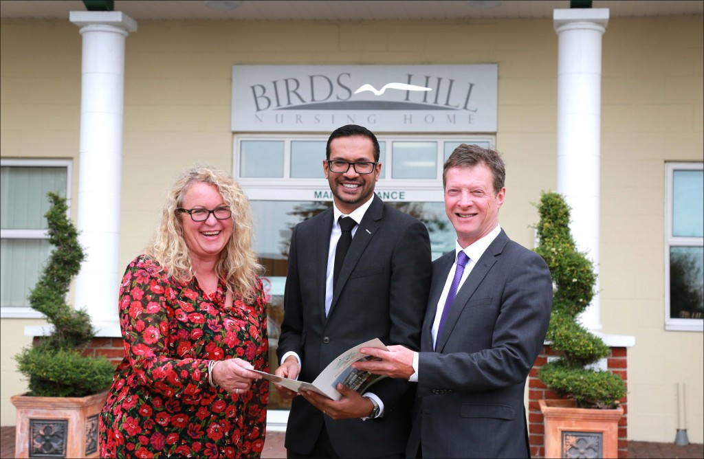 New owners: Kevin Gunputh, Managing Director, Luxury Care Group (centre) with Mandy Kittlety, Director of Care Services, and Neil Cook, Head of Business Services, Ellis Jones Solicitors.