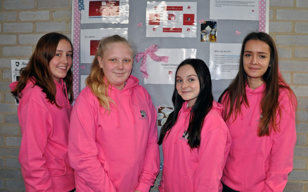 The Avonbourne College Project Emerge team who are helping to change people's lives, from left to right Lydia Sawyer, Katie O'Neill, Lizzie Tanswell and Judie Mayne.
