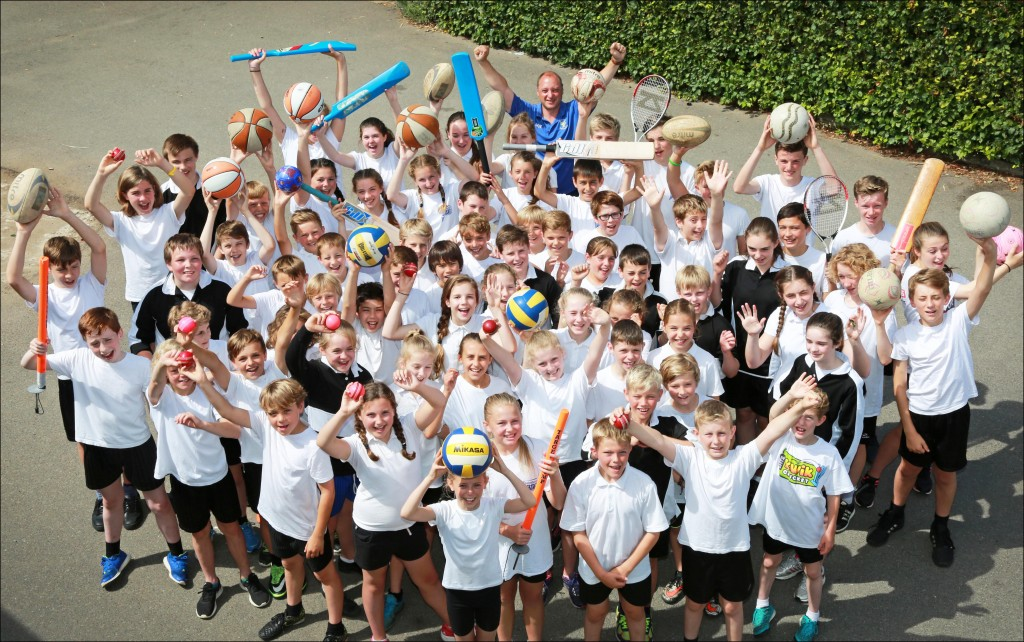 The outstanding sporting stars from St Michael's Middle School, Colehill.