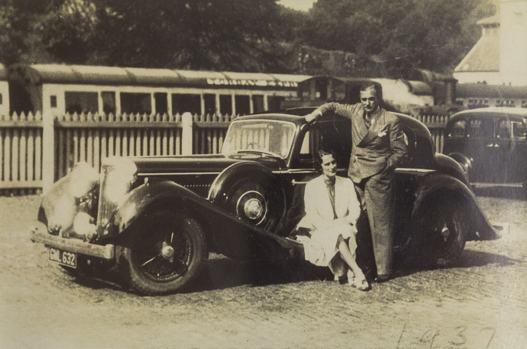 The visit when Harold Morty Mrtimore met his wife Mary at a hotel in Devon. His daughter Tilly said these were his two favoutie women; his future wife and the Jaguar he went to Devon to buy.